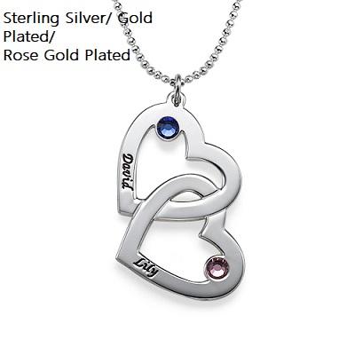 Corazón Diamante Collar De Cristal Grabado Con Palabra Amor Lindo Regalo Para Ella Girl