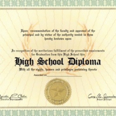 Amazon.com : High School Diploma Custom printed with your Info ...