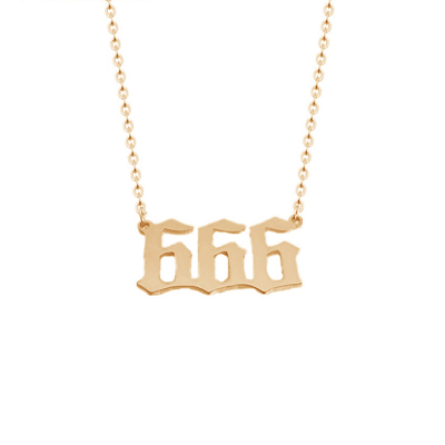 514bfef169 Amazon.com: Custom number Jewelry Personalized Old English Number ...