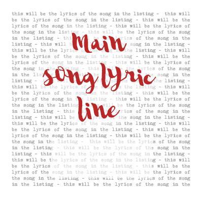 Amazon com: Jason Mraz, I Won't Give Up, Song Lyrics Print