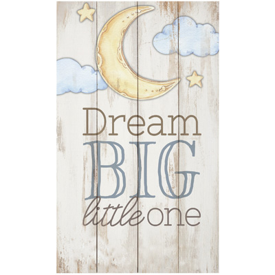 Amazon.com: Dream Big Little One luna y estrellas 14 x 24 ...