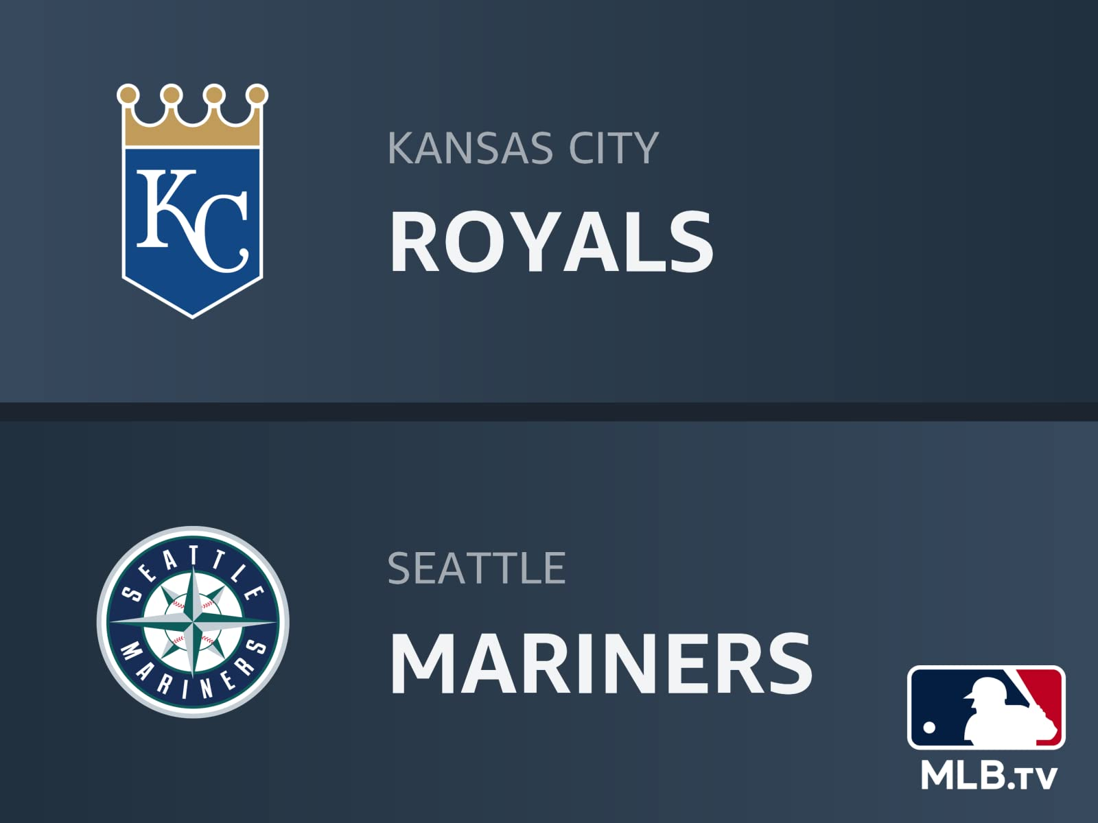 Watch Kansas City Royals At Seattle Mariners