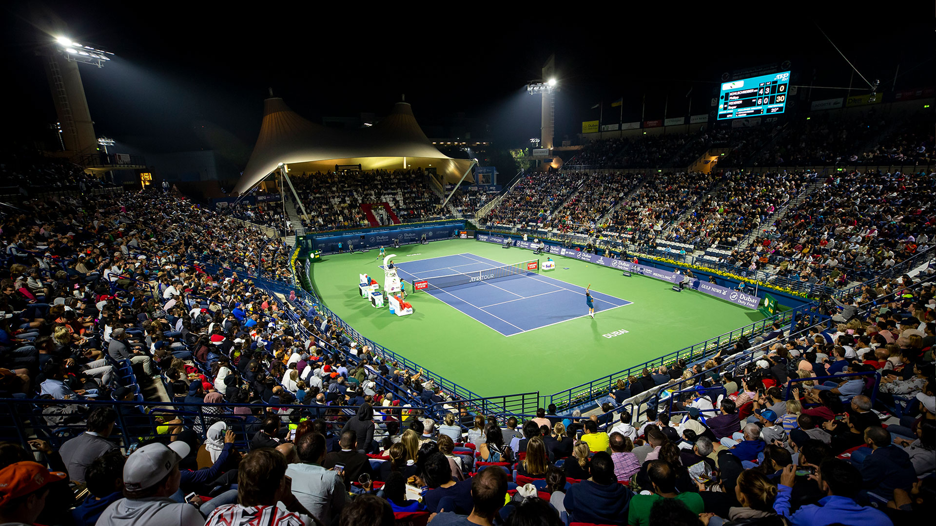 2020 Dubai Duty Free Tennis Championships - 25 February ATP Main Coverage and Highlights