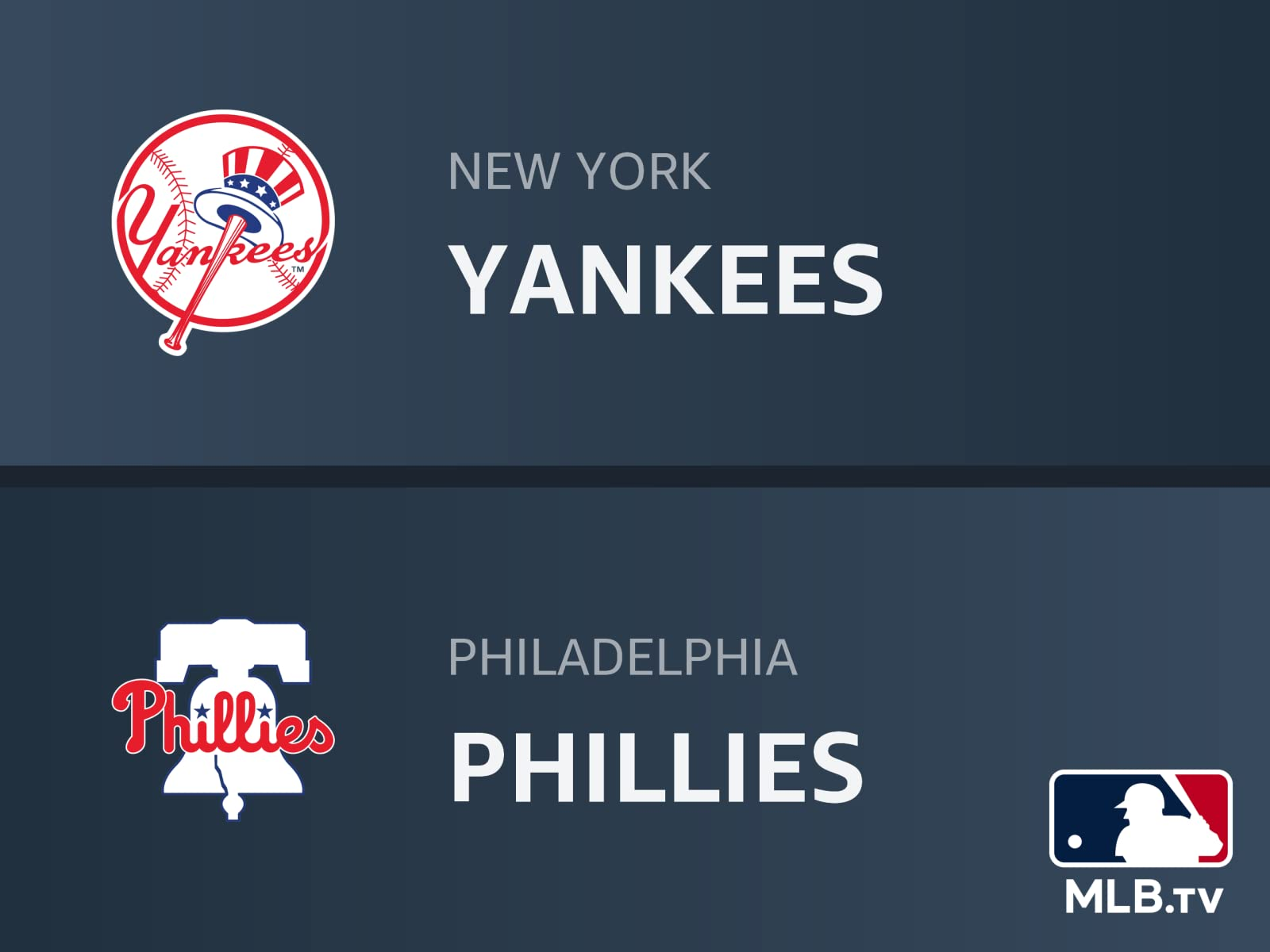 Watch New York Yankees At Philadelphia Phillies Prime Video