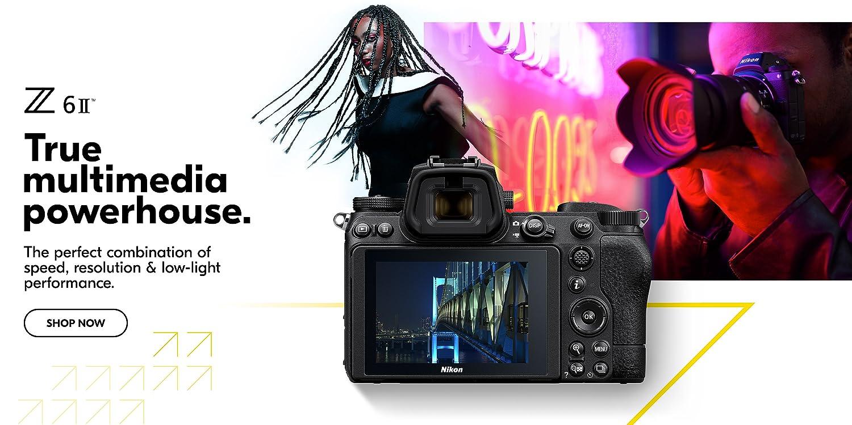 Nikon camera advertising sign for retail shop