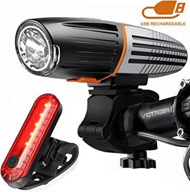 Tactical Flashlight 2-in-1 Rechargeable LED Torch Light /& Bike Front Light Mount
