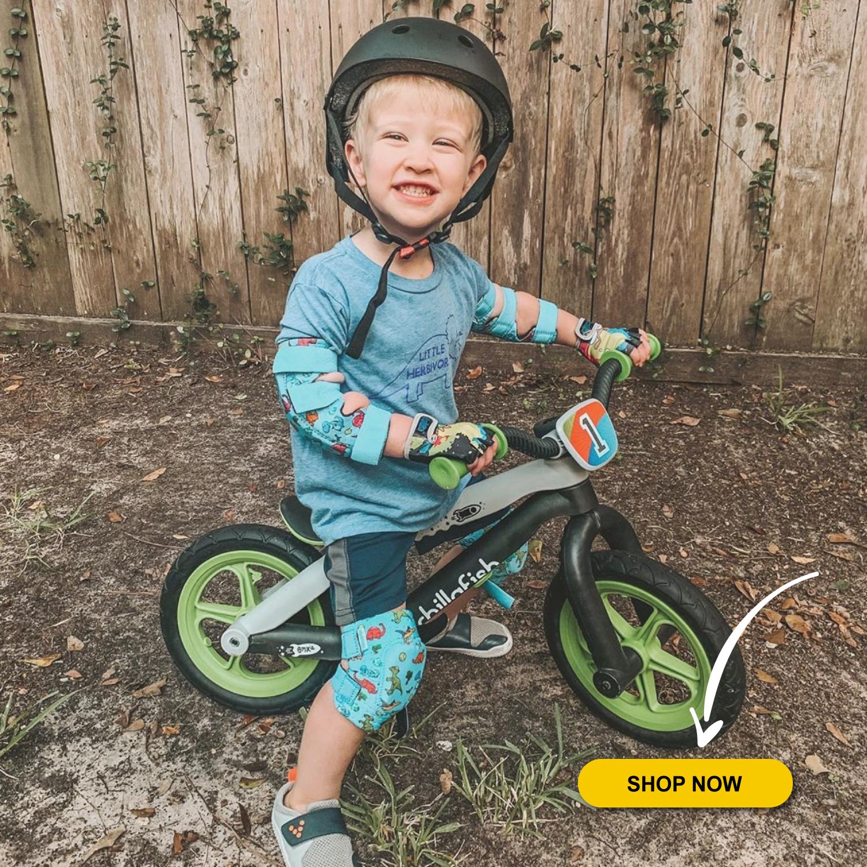 Roller-Skating Skateboard Knee Pads for Kids Child Boys Girls Simply Kids Innovative Soft Kids Knee and Elbow Pads with Bike Gloves I Toddler Protective Gear Set w//Mesh Bag I CSPC Certified I Bike
